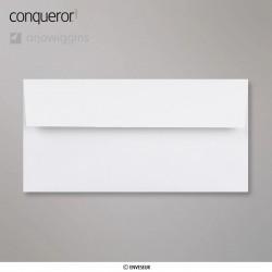 Conqueror Laid Diamond White, žebrovaná diamantově bílá obálka, formát DL bez okénka, 500 ks