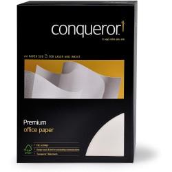 Conqueror Laid Brilliant White, žebrovaný briliantově bílý papír, formát A4, 500 listů