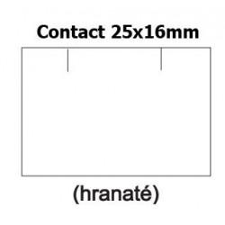 Cenové samolepící etikety na kotoučku bílé 25x16 mm CONTACT obdelník, 1125 etiket