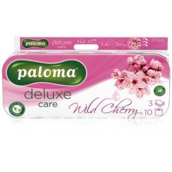 PALOMA DELUXE Wild Cherry, toaletní papír 3 vrstvý bílý 150 útržků, 10 ks