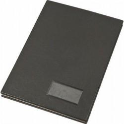 Podpisová kniha, černá, koženka, A4, 20 listů, karton