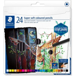 Staedtler šestihranné pastelky Design Journey Super Soft, sada 24 ks