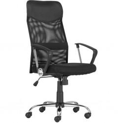 Kancelářská židle TENNESSEE, černá, síťovina, chromovaná základna