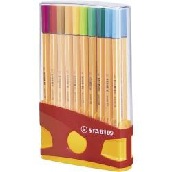 Stabilo Point 88 sada 20 barev v plastovém pouzdru, inkoustový liner stopa 0,4 mm
