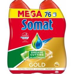Somat Gold Anti-Grease gel do myčky, 76 dávek, 2x684ml