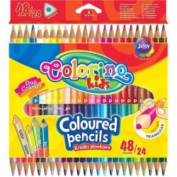 Colorino pastelky trojhranné, oboustranné, 48 barev, 24 ks
