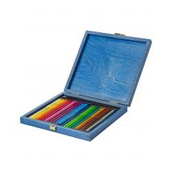 KOH-I-NOOR 8758, souprava pastelek Progresso v dřevěné kazetě, 24 barev
