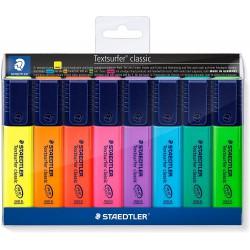 STAEDTLER zvýrazňovač Textsurfer Classic 364 sada 8 ks, klínový hrot 1-5 mm