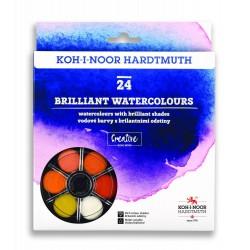 KOH-I-NOOR 174507/2, brilantní vodové barvy kulaté, 24 barev