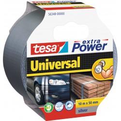Tesa extra Power 56348, Textilní univerzální opravná páska 50 mm x 10 m stříbrná