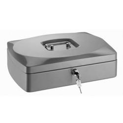 Conmetron kovová příruční pokladna 35, velikost 300x230x90 mm, stříbrná