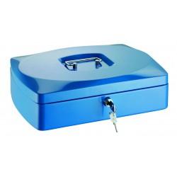 Conmetron kovová příruční pokladna 35, velikost 300x230x90 mm, modrá