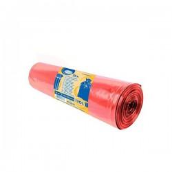 Pytle na tříděný odpad barevné 120 litrů, 25 ks, 70x100 cm, červené