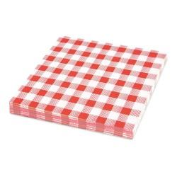Papírové ubrousky KARO červené 1-vrstvé, 33 x 33 cm, 100 ks
