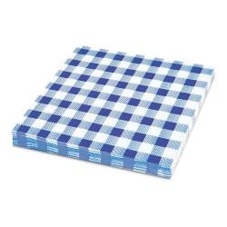 Papírové ubrousky KARO modré 1-vrstvé, 33 x 33 cm, 100 ks