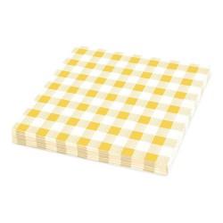 Papírové ubrousky KARO žluté 1-vrstvé, 33 x 33 cm, 100 ks