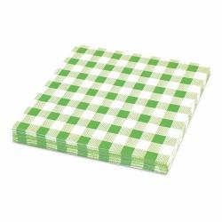 Papírové ubrousky KARO zelené 1-vrstvé, 33 x 33 cm, 100 ks