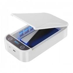 UV UNIVERZÁLNÍ STERILIZAČNÍ BOX, pro mobilní telefony  šperky, 10 W, bílá, POWERTON