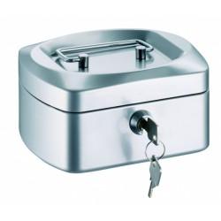 Conmetron kovová příruční pokladna 22, velikost 205x160x85 mm, stříbrná