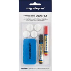 Magnetoplan Whiteboard Starter Kit, Popisovače, stěrka, magnety