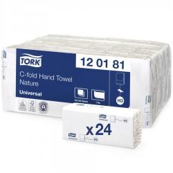 Tork 120181, C-fold papírové ručníky jednovrstvé, H3, 24x192 ks