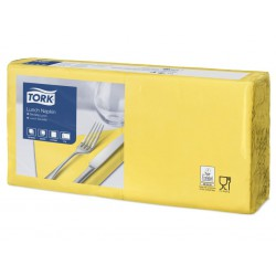 Tork 477841, Tork ubrousek žlutý – oběd, 2 vrstvy, 33x33 cm