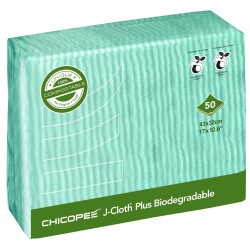 Utěrky CHICOPEE J-cloth Plus Biodegradable 43x32 cm / 50 ks - zelené