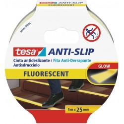 Tesa 55580, protiskluzová fluorescenční páska Anti-slip 25mm x 5m, FLUORESCENT