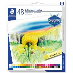 STAEDTLER Soft Pastel, souprava kříd jemných prašných uměleckých v sadě 48 ks