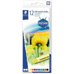 STAEDTLER Soft Pastel, souprava kříd jemných prašných uměleckých v sadě 12 ks