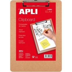 APLI Wood Clipboard, dřevěná podložka na psaní A4, s klipem