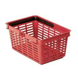 Durable nákupní košík plast, 19 litrů, červená