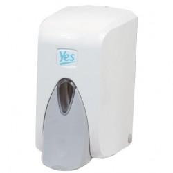 Dávkovač na tekuté mýdlo YES, plastový bílý, dolévací, 500 ml
