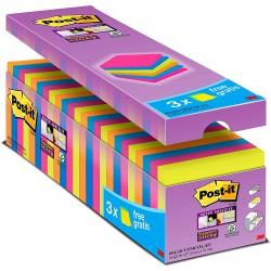 3M Post-it 654-S, samolepící bločky silně lepící, 76x76 mm, maxi balení 24x90 lístků