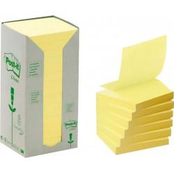 3M Post-it samolepící recyklovaný bloček 330-1T, rozměr 76x76 mm, 16x100 lístků, tvar Z