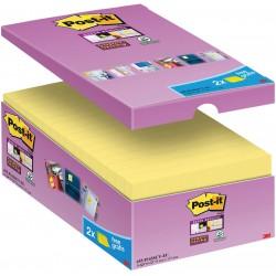 3M Post-it 655 samolepící bloček, 76x127 mm, 16x90 lístků, silně lepící, žluté