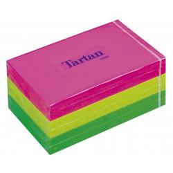 3M samolepicí bloček TARTAN barevný neon, 76x127 mm, 6x100 lístků