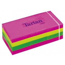 3M samolepicí bloček TARTAN barevný neon, 38x51 mm, 12x100 lístků