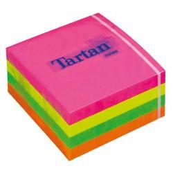 3M samolepicí bloček TARTAN kostka neonová, 76 x 76 mm, 400 lístků