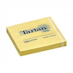 3M samolepicí bloček TARTAN žlutý, 76x76 mm, 100 lístků