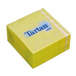 3M samolepicí bloček TARTAN žlutý, 76x76 mm, kostka 400 lístků