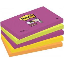 3M Post-it 655, samolepící bločky, rozměr 76x127 mm, 5x90 listů, silně lepící