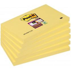 3M Post-it žlutý samolepící bloček 655-S, silně lepící, rozměr 76x127 mm, 6x90 lístků
