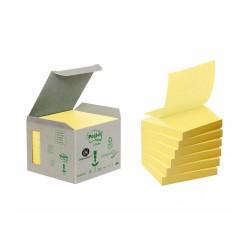 3M Post-it samolepící recyklovaný bloček 330-1B, rozměr 76x76 mm, 6x100 lístků, tvar Z