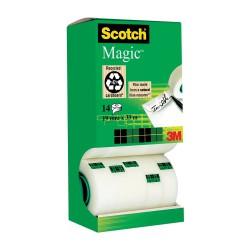 Scotch Magic Tape 810, lepicí páska bankovní popisovatelná, 19x33, balení 14ks