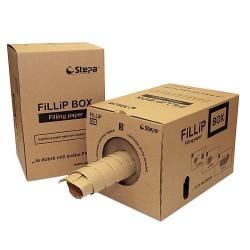 Mačkaný výplňový fixační papír 38cm x 450 m, FiLLiP BOX