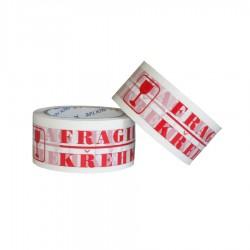 Balící páska lepící, 48x66, potisk Fragile - křehké