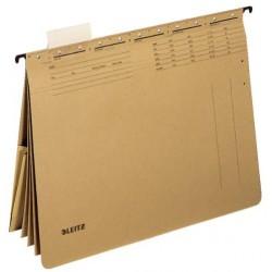 Závěsné desky Leitz ALPHA s rychlovazači a kapsou, hnědá, 19830000
