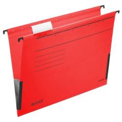 Závěsné desky Leitz ALPHA® s bočnicemi, červená