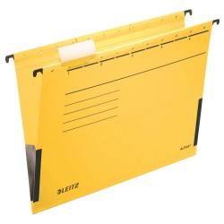 Závěsné desky Leitz ALPHA® s bočnicemi, žlutá